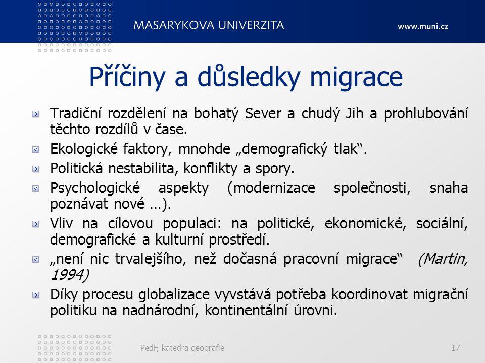 Příčiny a důsledky migrace