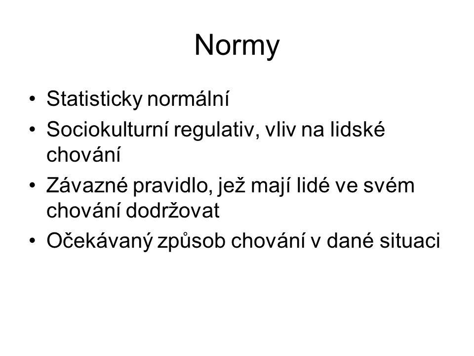Normy Statisticky normální
