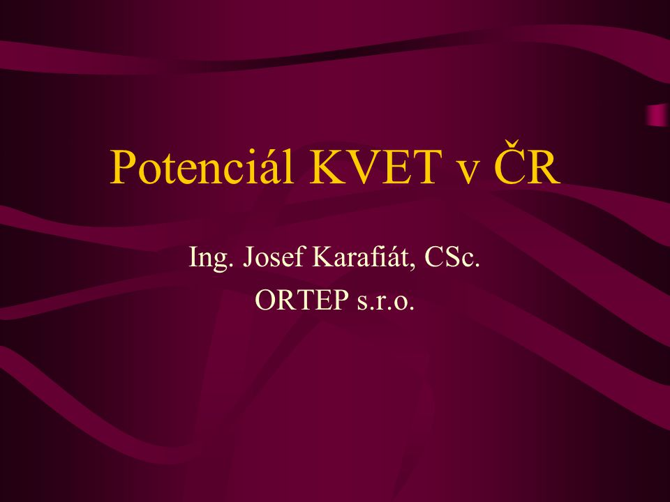 Ing. Josef Karafiát, CSc. ORTEP s.r.o.