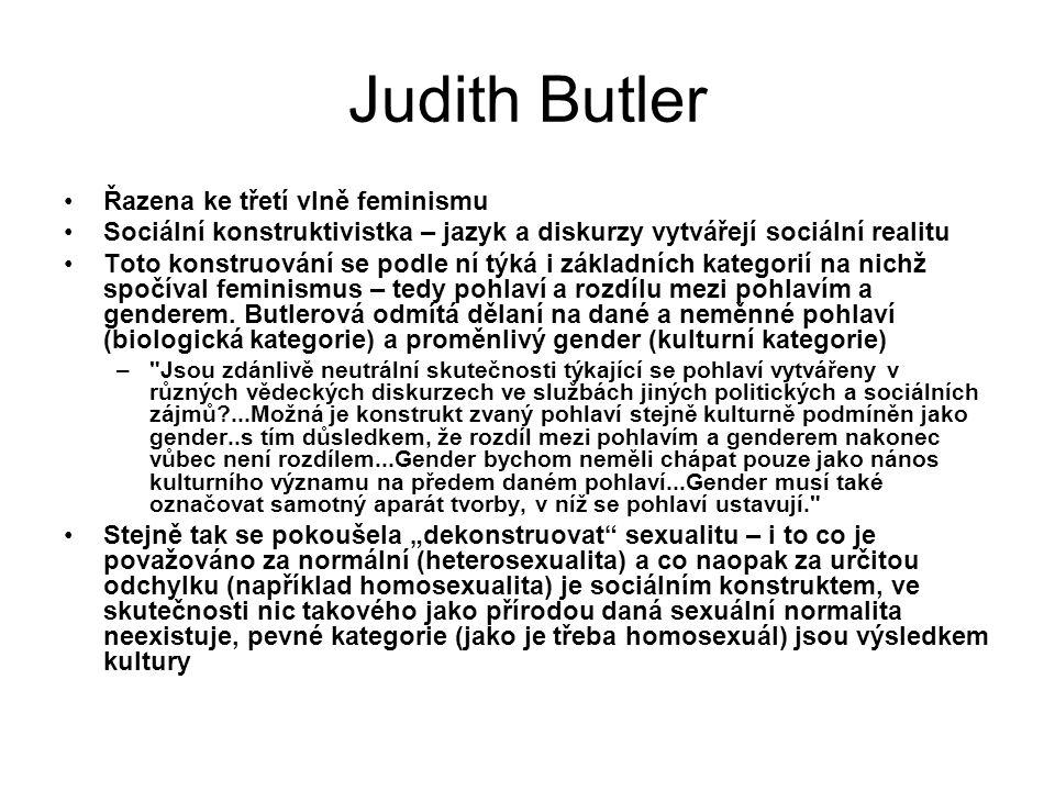 Judith Butler Řazena ke třetí vlně feminismu