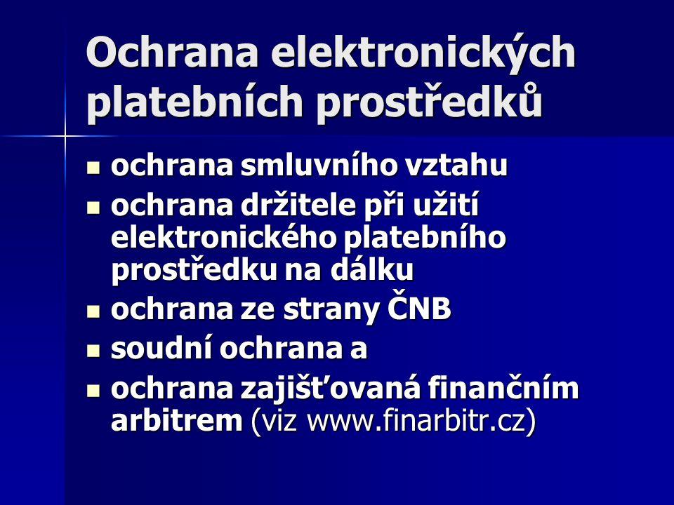 Ochrana elektronických platebních prostředků