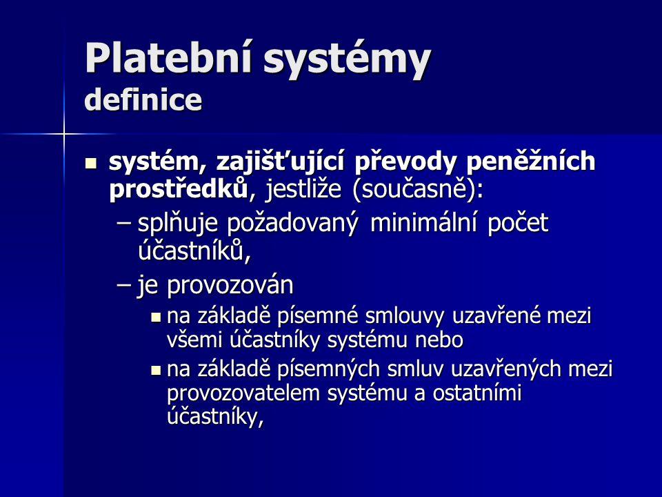 Platební systémy definice