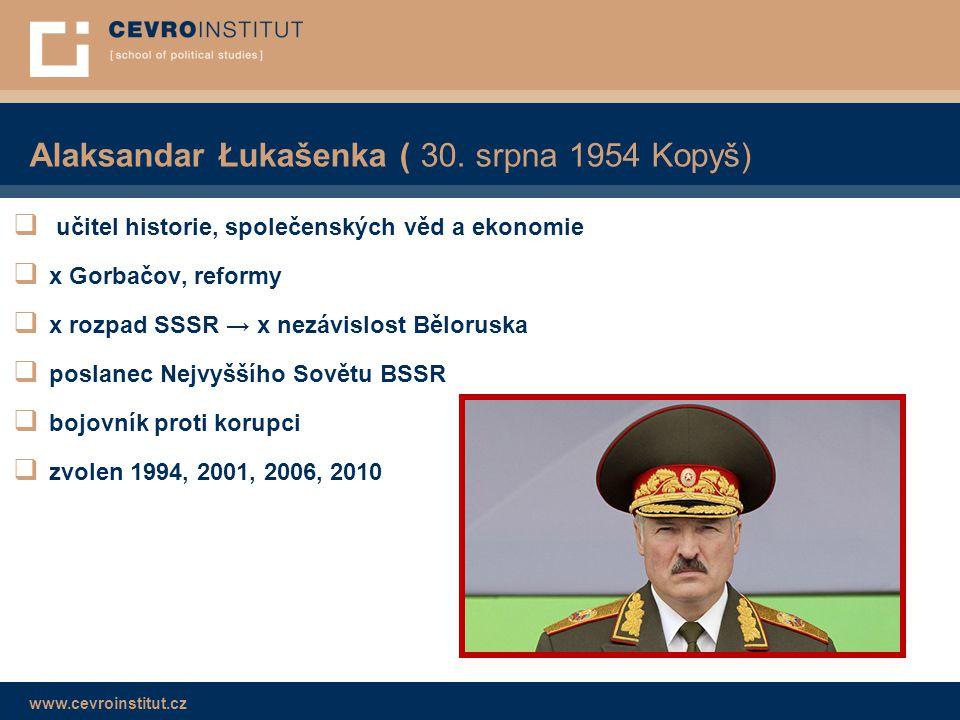 Alaksandar Łukašenka ( 30. srpna 1954 Kopyš)