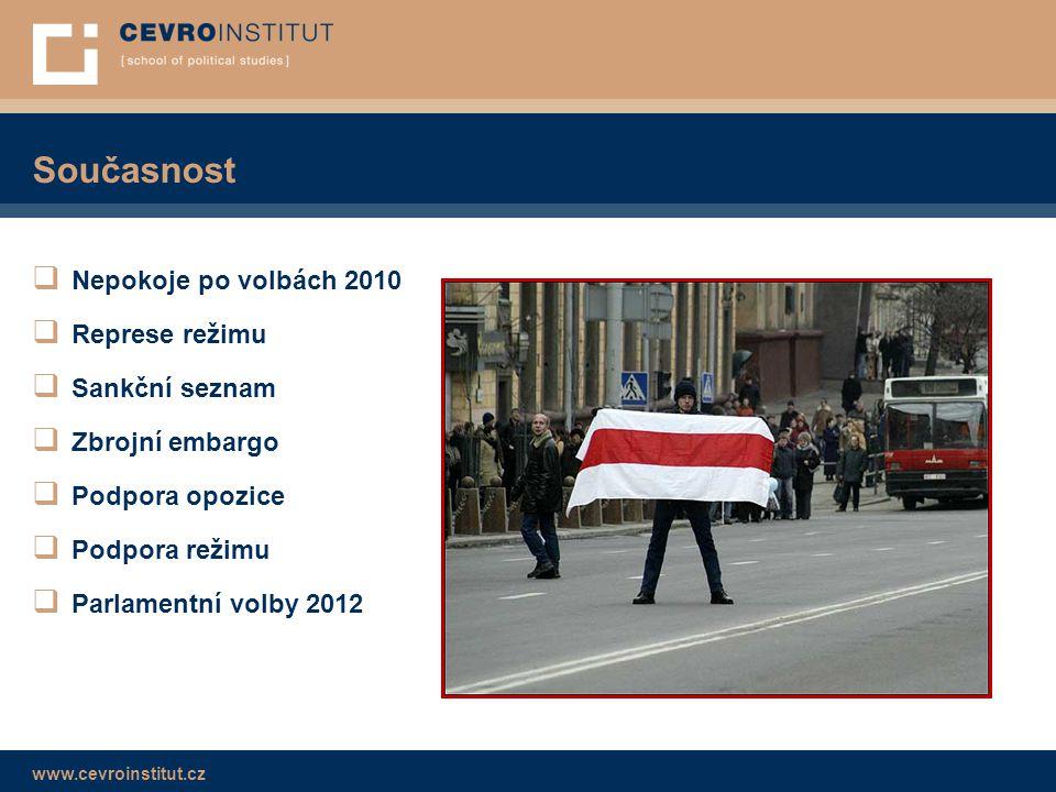 Současnost Nepokoje po volbách 2010 Represe režimu Sankční seznam
