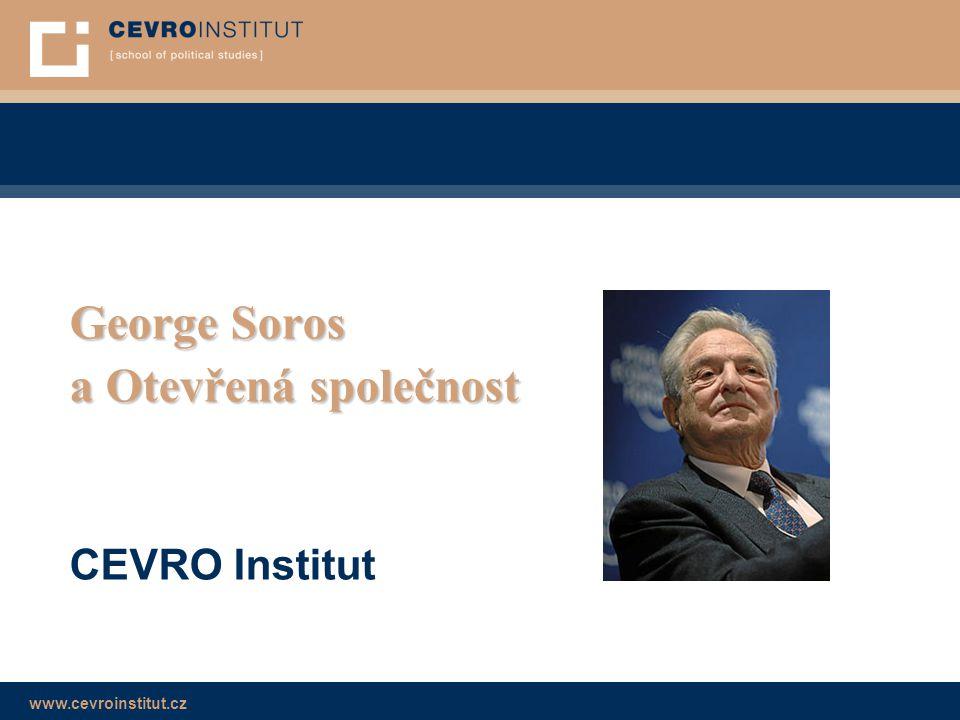 George Soros a Otevřená společnost