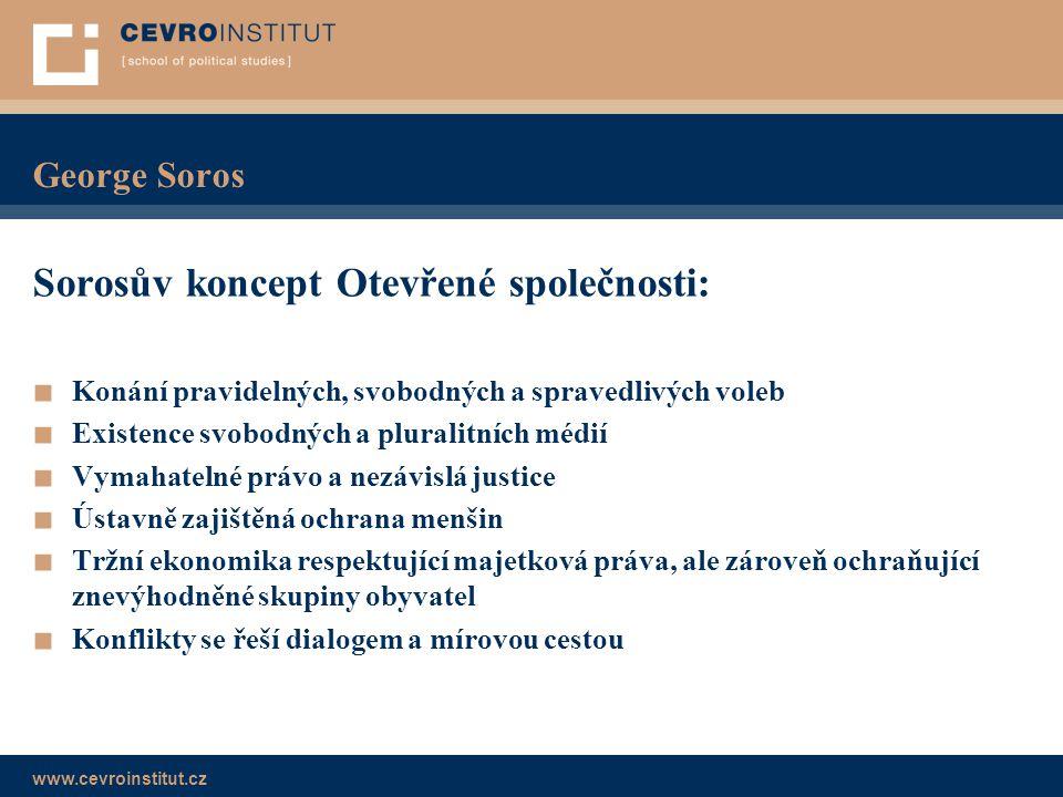 Sorosův koncept Otevřené společnosti:
