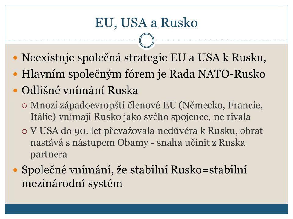 EU, USA a Rusko Neexistuje společná strategie EU a USA k Rusku,