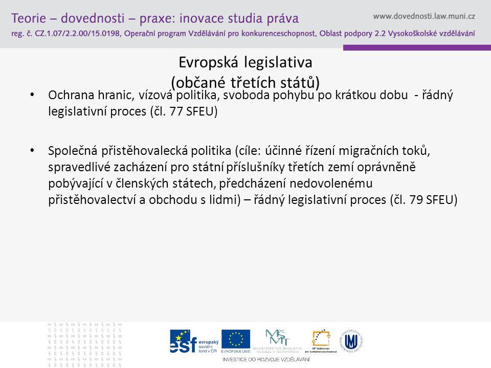 Evropská legislativa (občané třetích států)