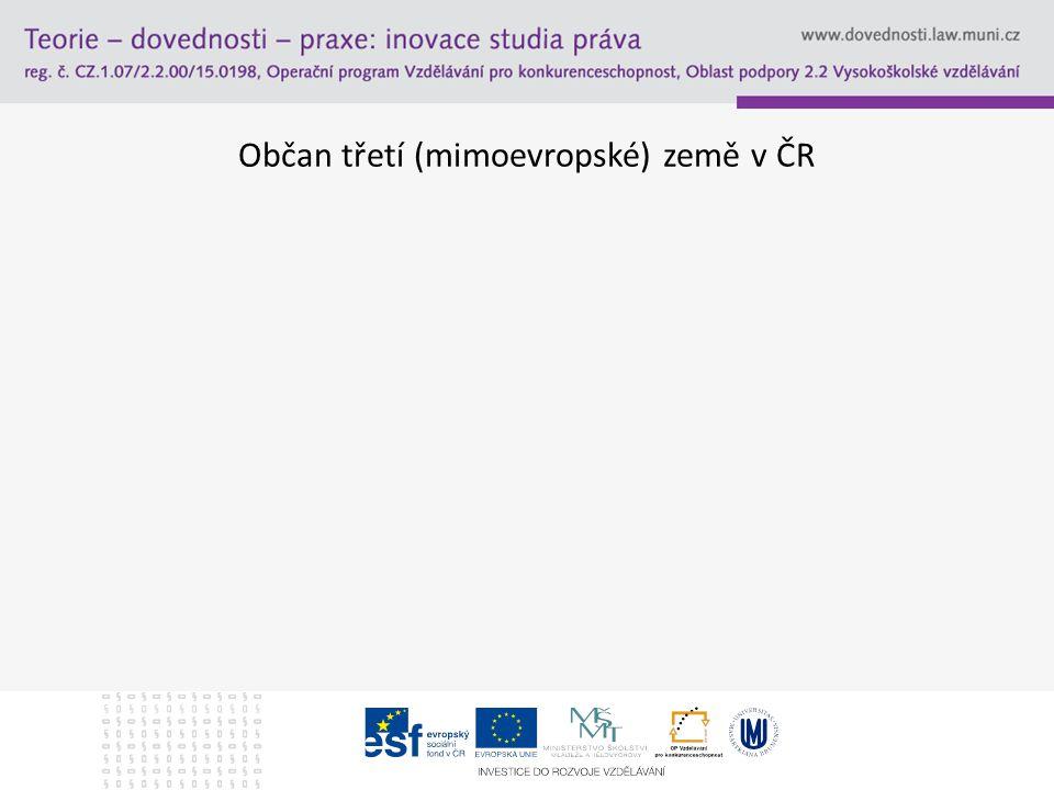 Občan třetí (mimoevropské) země v ČR