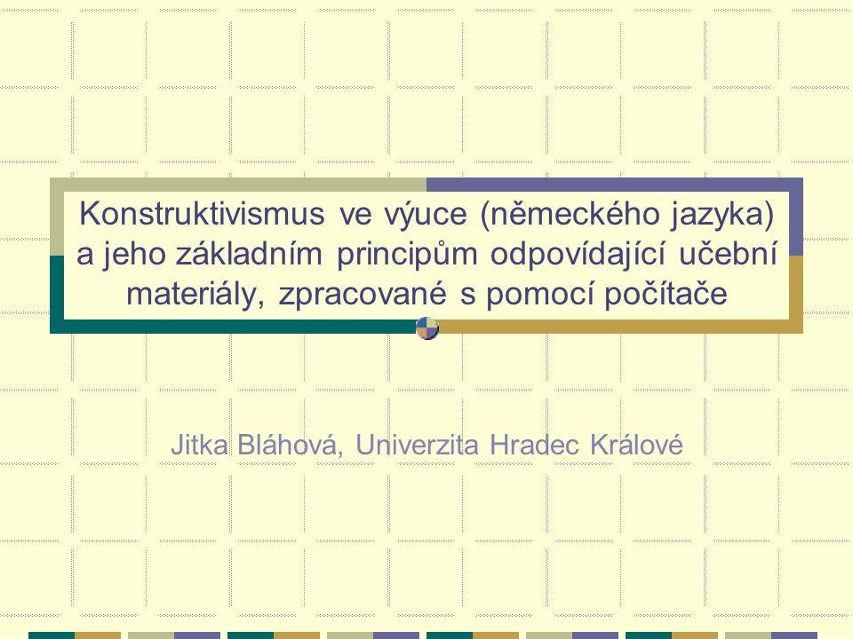 Jitka Bláhová, Univerzita Hradec Králové