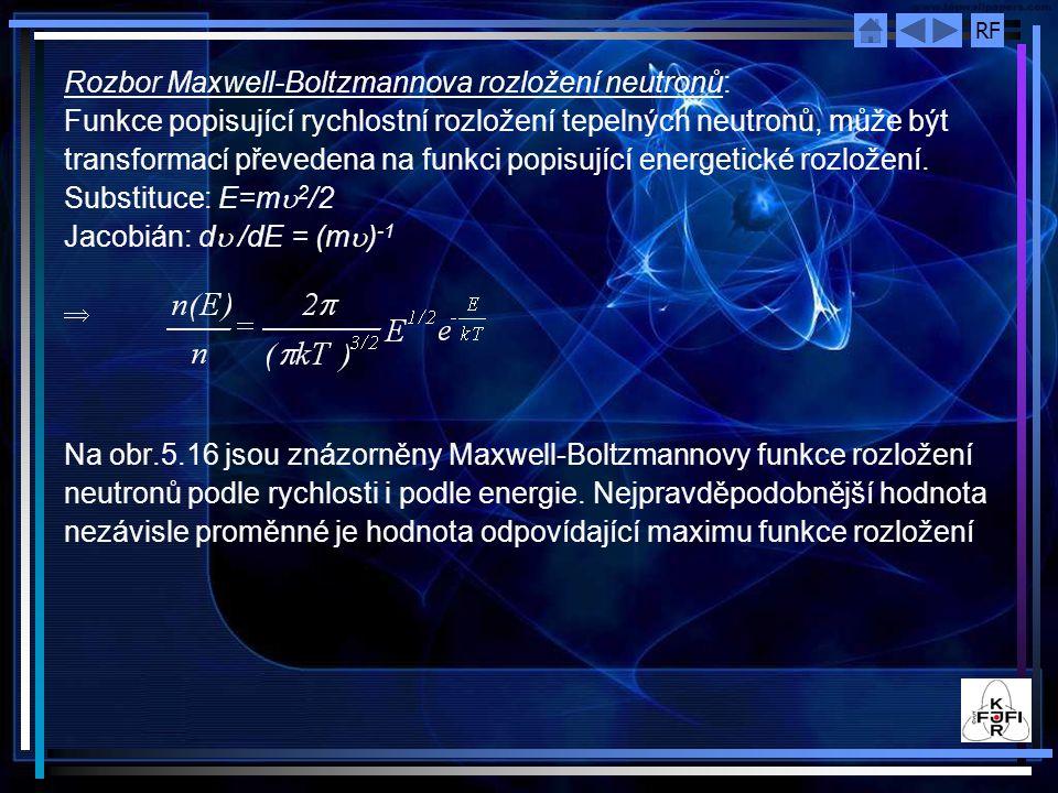 Rozbor Maxwell-Boltzmannova rozložení neutronů: