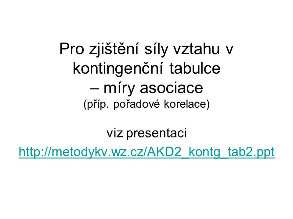 viz presentaci http://metodykv.wz.cz/AKD2_kontg_tab2.ppt