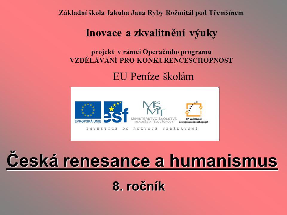 Česká renesance a humanismus