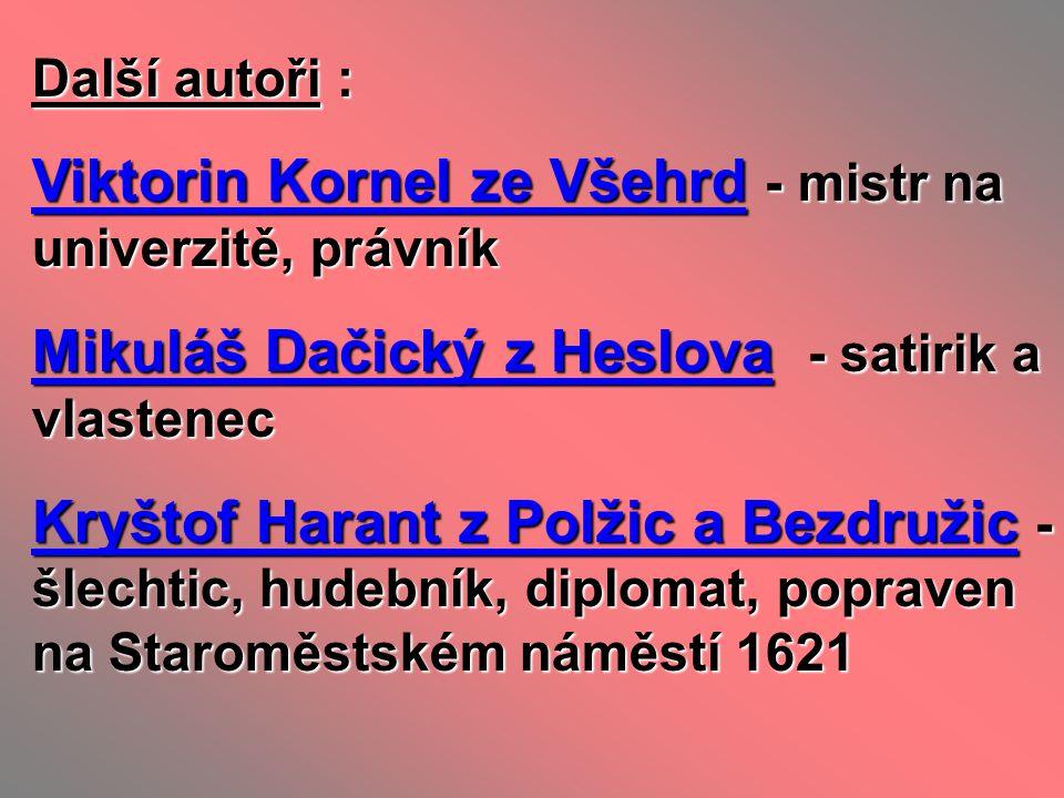 Viktorin Kornel ze Všehrd - mistr na univerzitě, právník