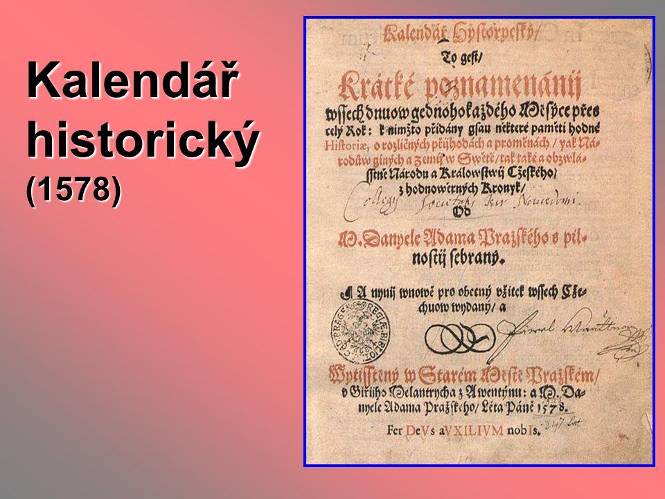 Kalendář historický (1578)