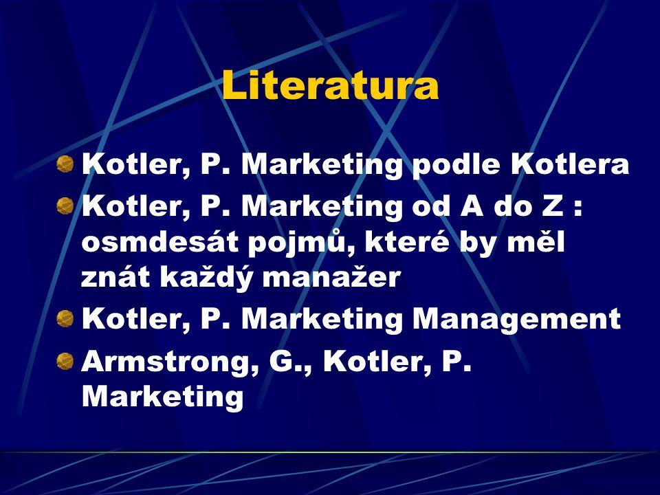 Literatura Kotler, P. Marketing podle Kotlera