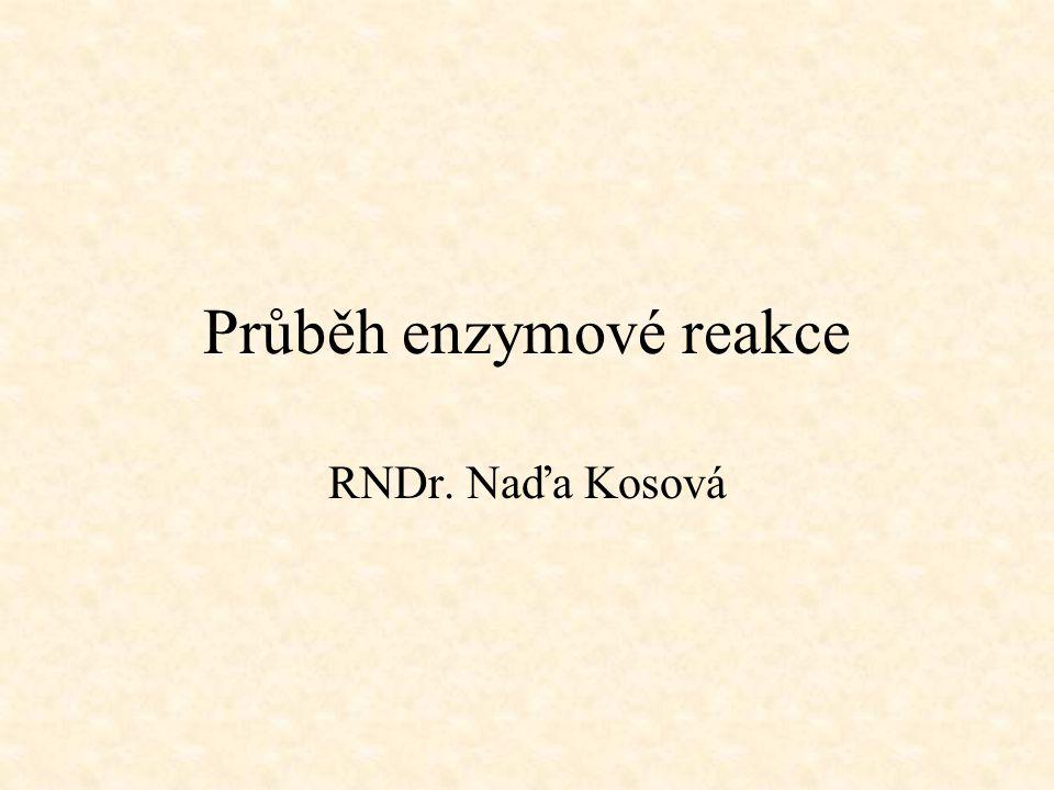 Průběh enzymové reakce