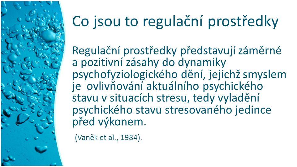 Co jsou to regulační prostředky