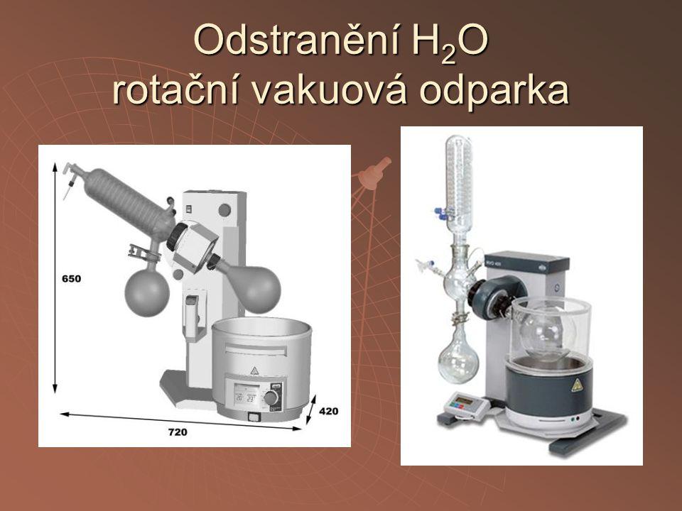 Odstranění H2O rotační vakuová odparka