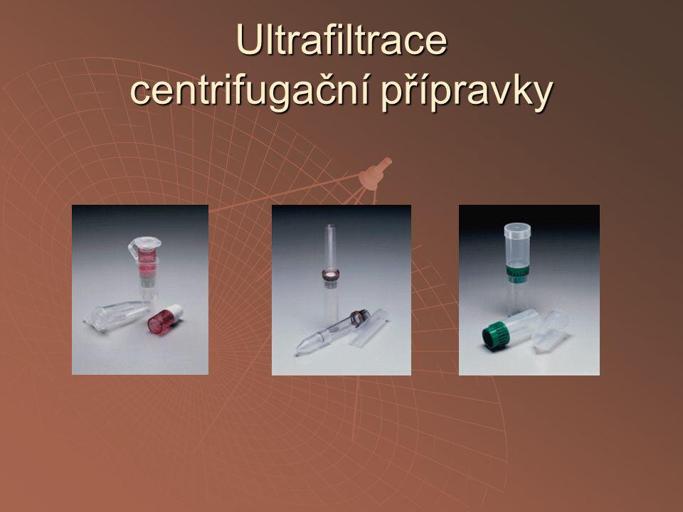 Ultrafiltrace centrifugační přípravky