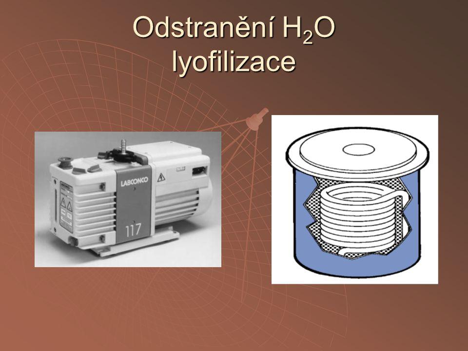 Odstranění H2O lyofilizace