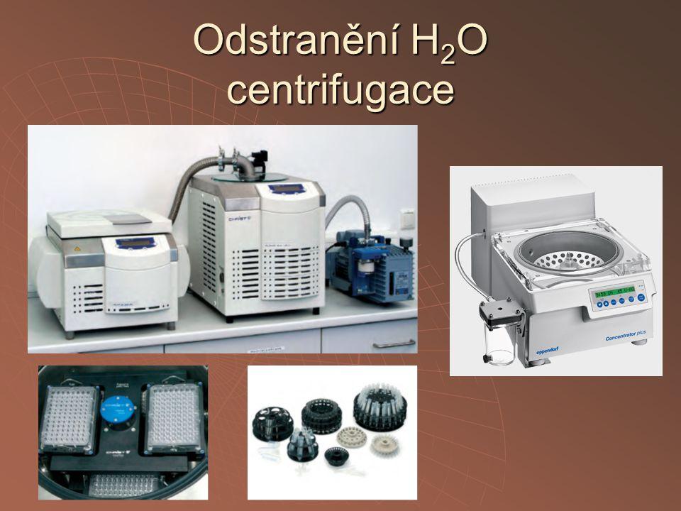 Odstranění H2O centrifugace