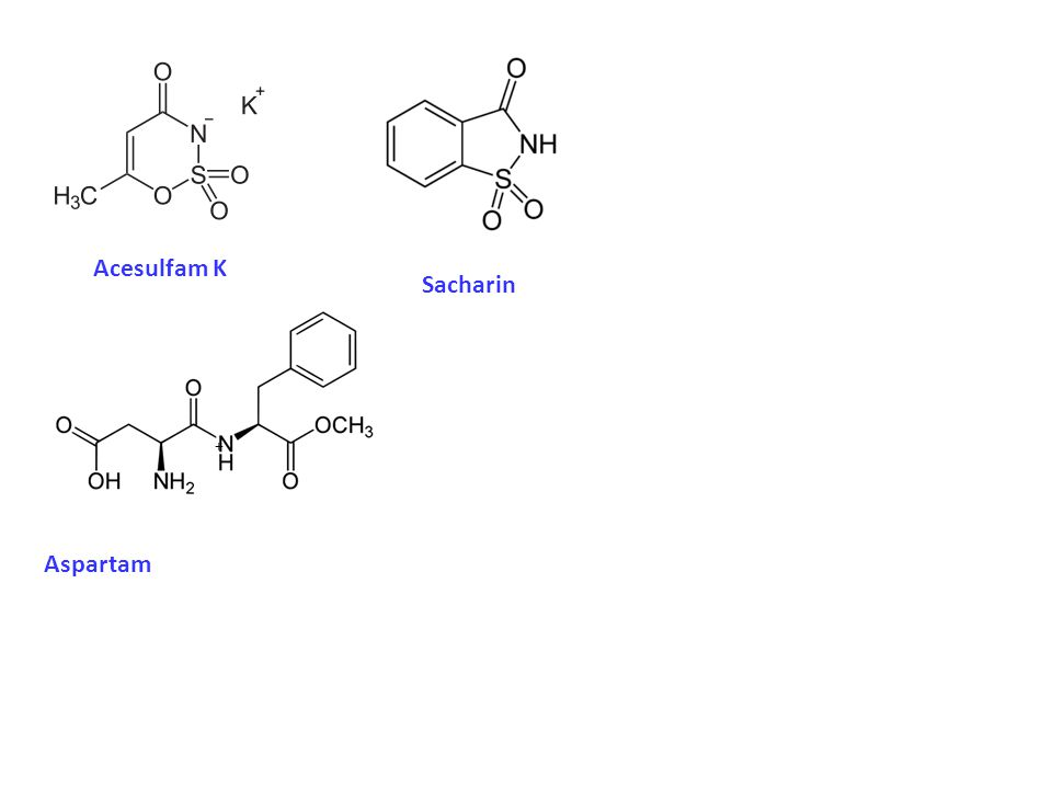 Acesulfam K Sacharin + Aspartam