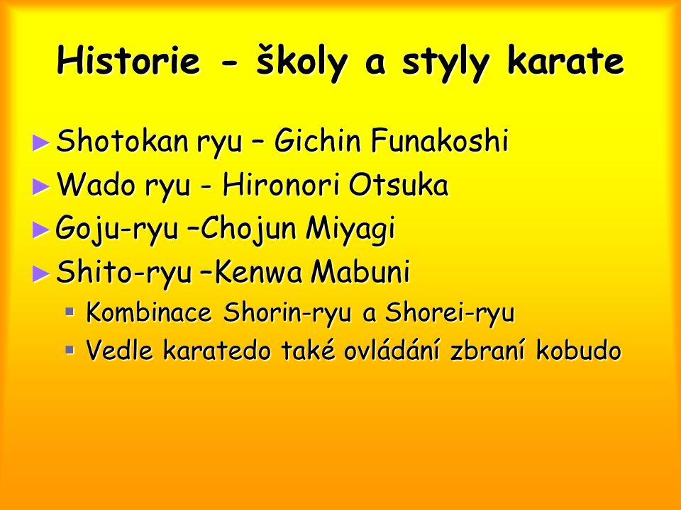 Historie - školy a styly karate