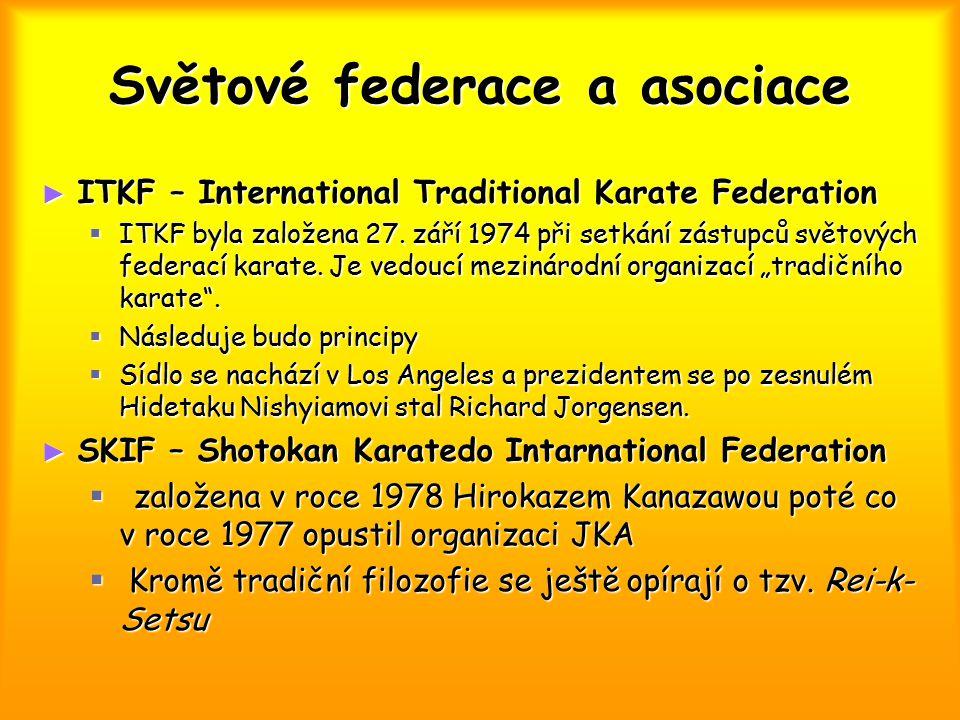 Světové federace a asociace
