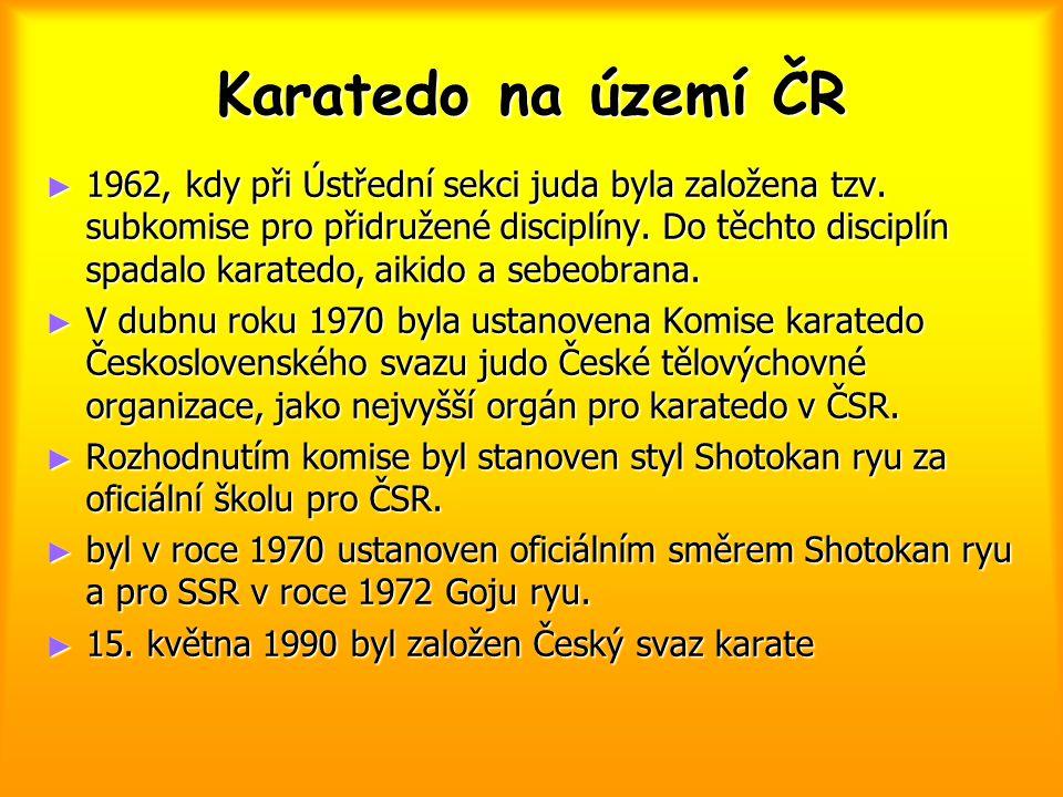 Karatedo na území ČR
