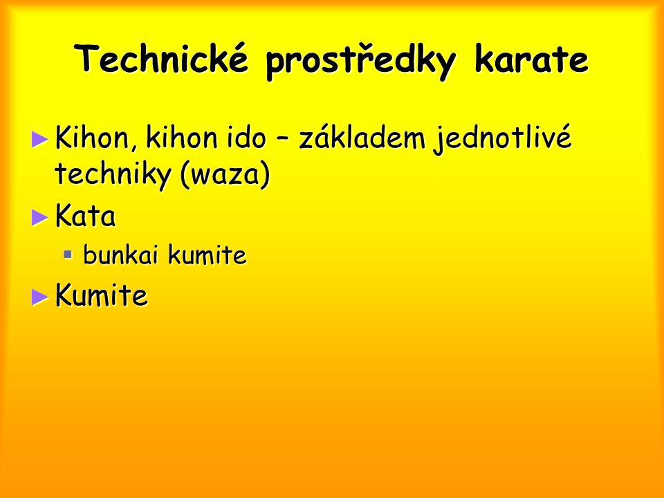 Technické prostředky karate