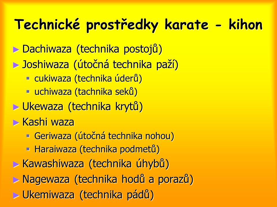 Technické prostředky karate - kihon