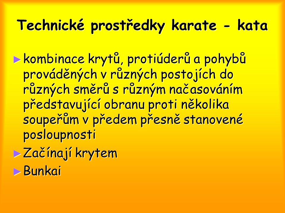 Technické prostředky karate - kata