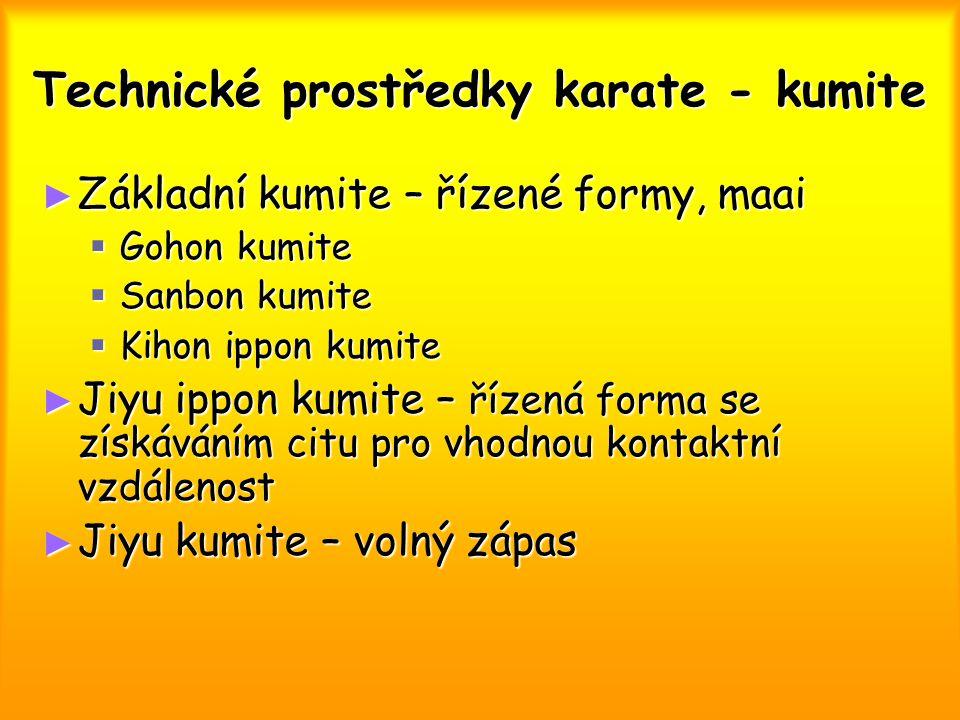 Technické prostředky karate - kumite
