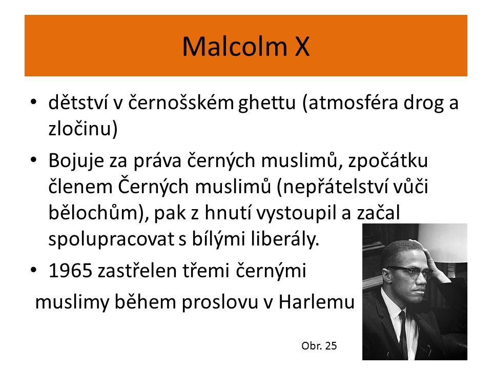 Malcolm X dětství v černošském ghettu (atmosféra drog a zločinu)