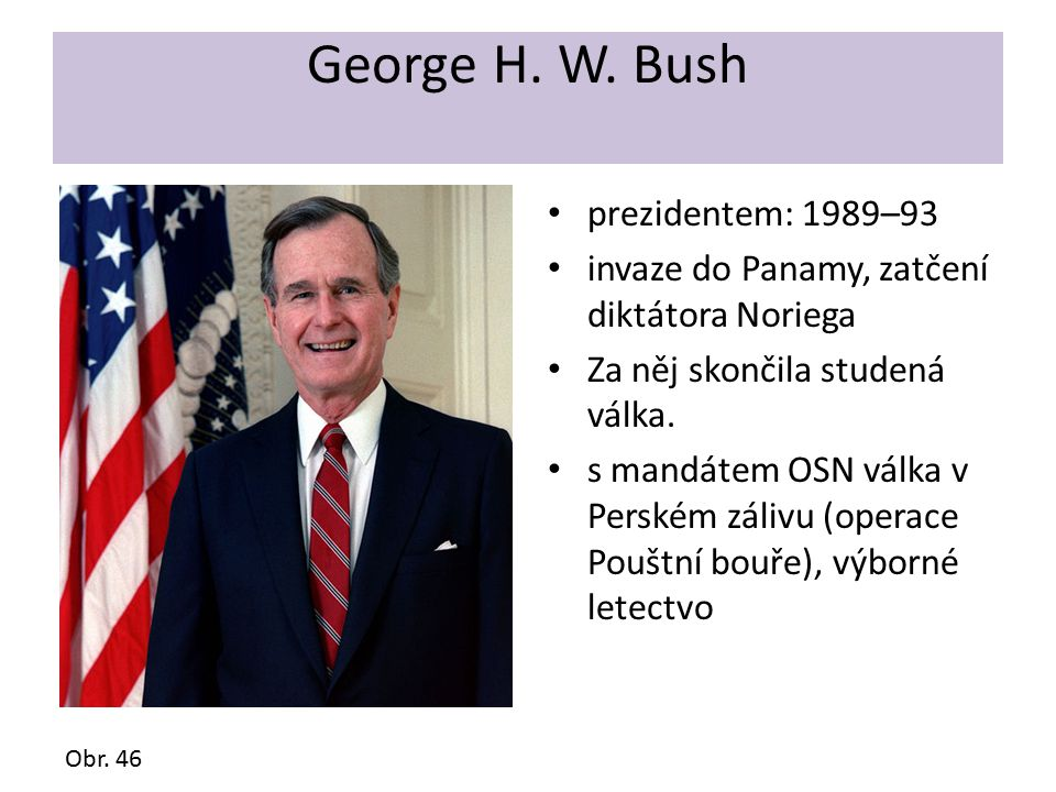George H. W. Bush prezidentem: 1989–93