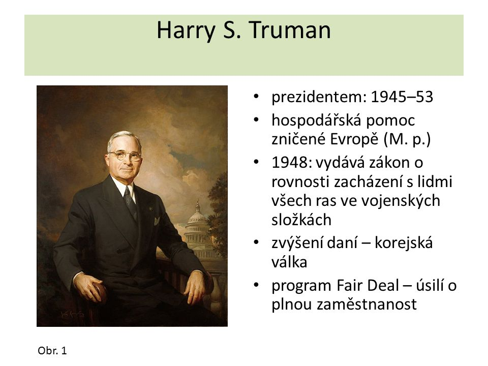 Harry S. Truman prezidentem: 1945–53