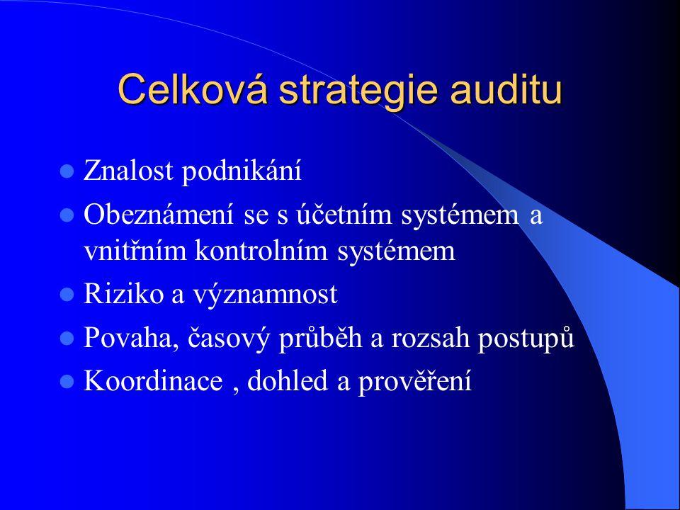 Celková strategie auditu