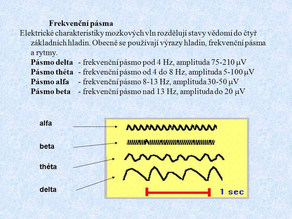 Pásmo delta - frekvenční pásmo pod 4 Hz, amplituda 75-210 V