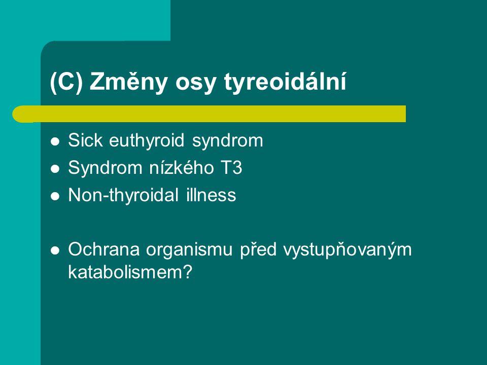 (C) Změny osy tyreoidální