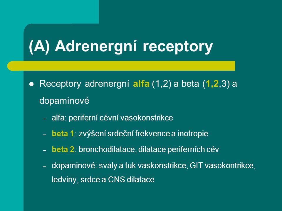 (A) Adrenergní receptory