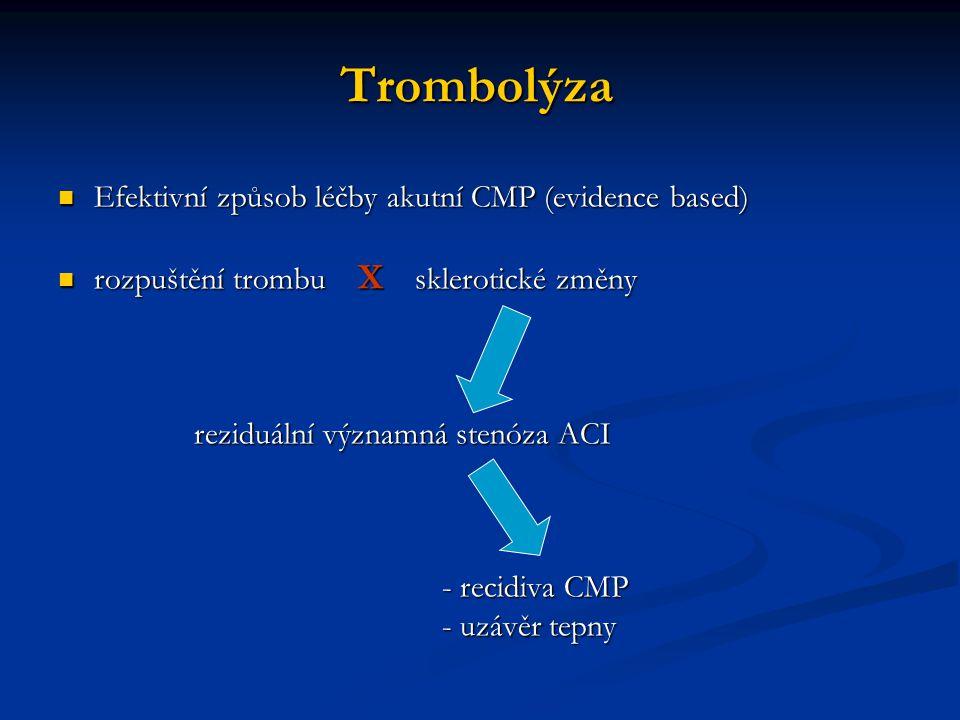 Trombolýza Efektivní způsob léčby akutní CMP (evidence based)