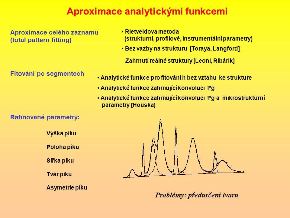 Aproximace analytickými funkcemi