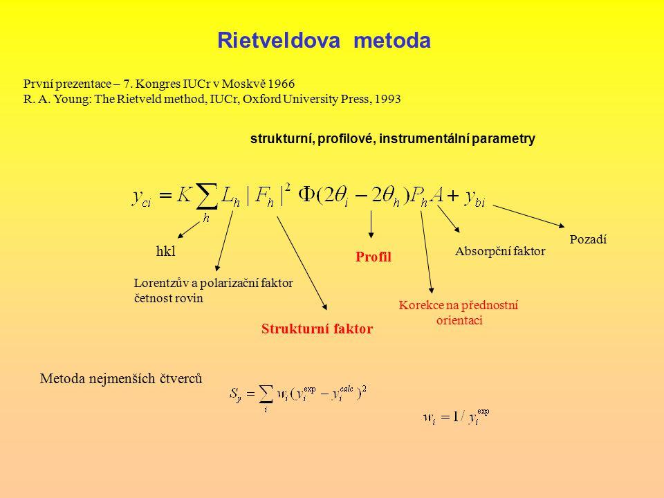 Rietveldova metoda hkl Profil Strukturní faktor