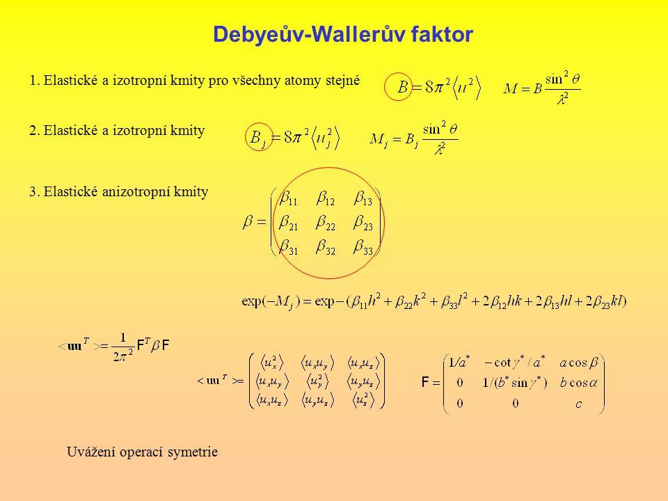 Debyeův-Wallerův faktor