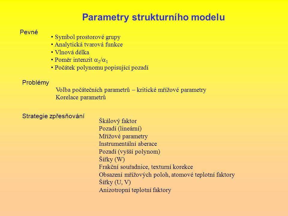 Parametry strukturního modelu