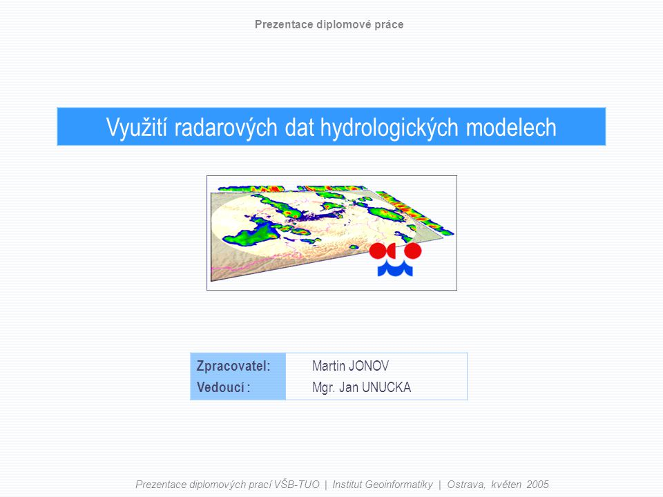 Využití radarových dat hydrologických modelech
