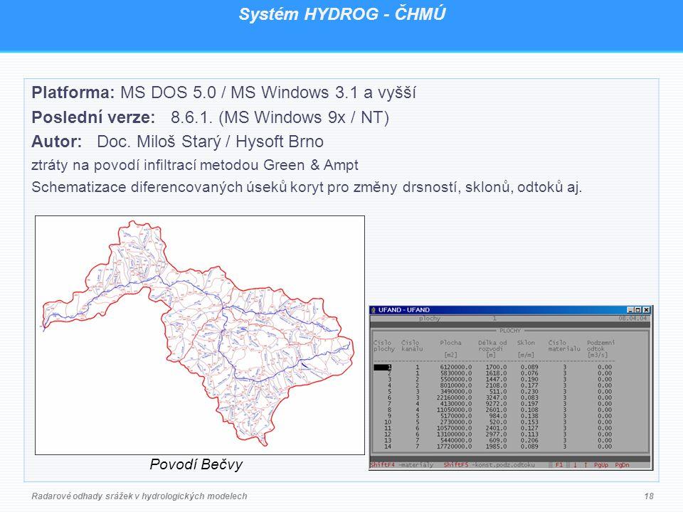 Platforma: MS DOS 5.0 / MS Windows 3.1 a vyšší