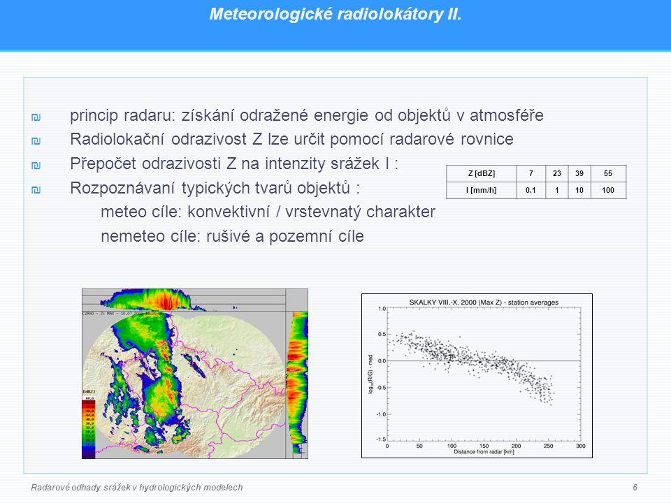 Meteorologické radiolokátory II.