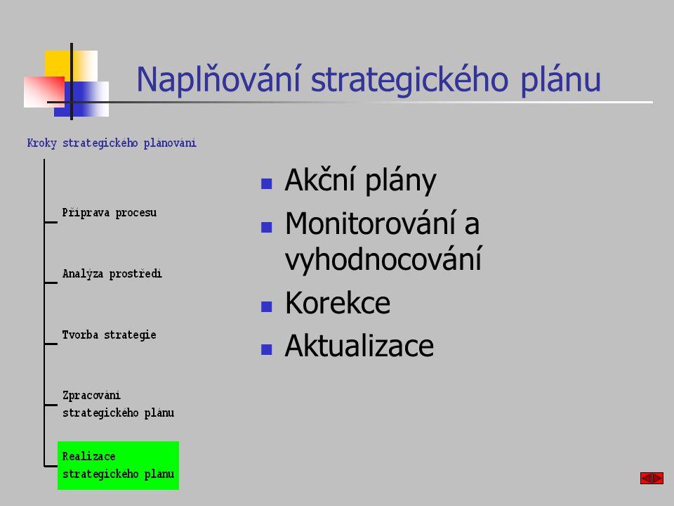 Naplňování strategického plánu